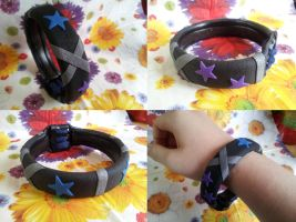 Blue and purple star bangle by dobharachu