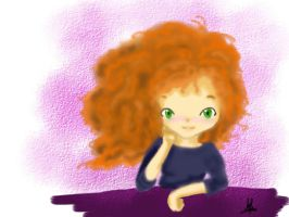Merida speed paint by MifuMuffin