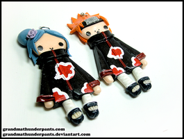 Konan and Pein by GrandmaThunderpants