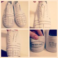 Doctor Who Custom Shoes WIP by Becca-Chan427