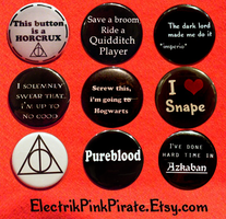 MOAR potter flair :3 by ElectrikPinkPirate