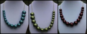 Pearl Necklaces - For Sale by Thy-Darkest-Hour