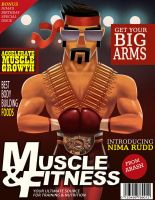 Muscle magazine cover by Arashocky