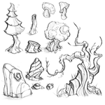 Forest Prop sketches by Necro--Art