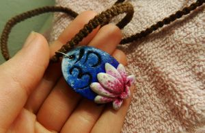 Lotus Om pendant by PoisonJARCreations