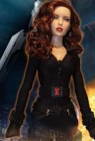 OOAK Black Widow Iron Man Doll by ShannonCraven