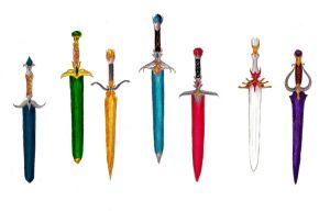 The Riders' Blades Colored by Maddiefu