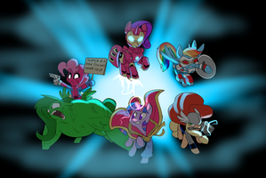 Avenger Ponies by Metal-Kitty