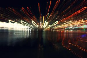 Wellington Waterfront - Light Streaks. by sayra
