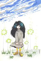 La fille au pull gris. by Anorya