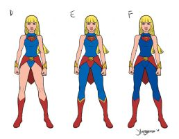 Super Girl Costume Designs D-F by RC-draws