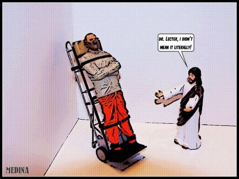 Action Figure Jesus: Silence of the Lambs by RogerMedina