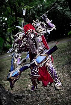 Lady Sylvanas - windrunner (undead) by KRIZYOW