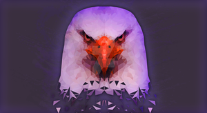 Low Poly Eagle Wallpaper by fr0zenyoghurt
