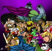 Cartoon Heroes by Osmar-Shotgun