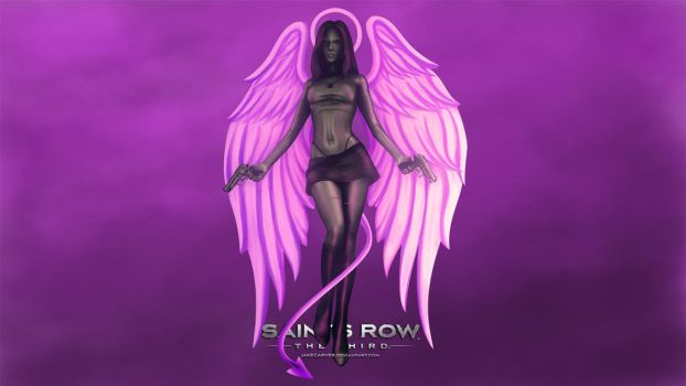Angel/Demon Babe Wallpaper (Saints Row 3) by JakeCarver