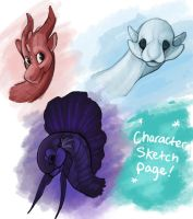 Character Sketch Page Commissions by AlanaRoseheart