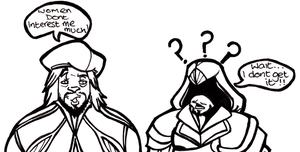 Short Comic 9: Ezio n Leo by Hades-O-Bannon