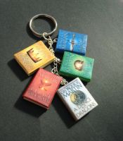 A Song of Ice and Fire book keychain/bracelet by InsaneJellyBean95