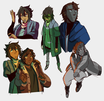 Clover Wren Raven Sketches by PastelWing