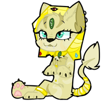 SPHYNX .:CHIBI:. by goldentiqers