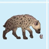 Dotted Spotted Hyena by Blue-Dragon22