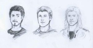 The Avengers sketches WIP by lorellashray