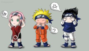 OMG, finished Naruto chibis... by kimidori