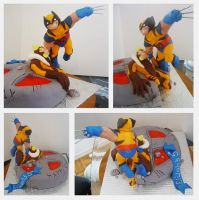 X-MEN: Wolverine vs Sabertooth by Cakerific
