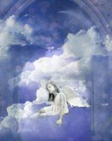 Angel in clouds by Dinopeal