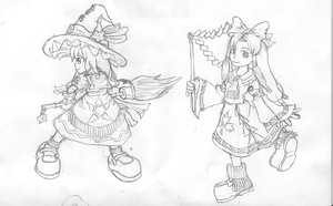 LoG - Marisa and Reimu by Minon