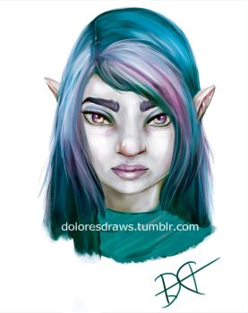 Galaxy in her eyes by doloresdraws