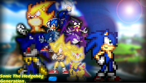 Sonic Generation Sprite by parrishbroadnax