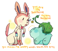 Sylveon and Cabbage by FauxBoy