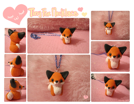 .::Tiny Fox Necklace::. by kiiyuko