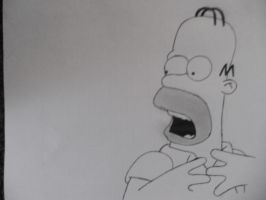 Homer Simpson [Character drawing] by Danchix