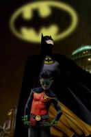 Dark Knight and Son by ColdAngel2