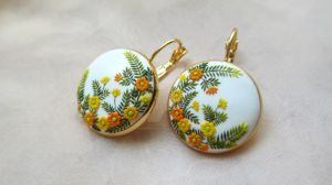 Warm Sunrise Handmade Clay Earrings by LenaHandmadeJewelry