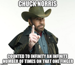 Chuck Norris Meme: Counting to Infinity by WOLFBLADE111