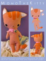 MomoTheKitty Plushie by LalaFish