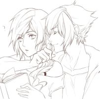 noctis and lightning by relear