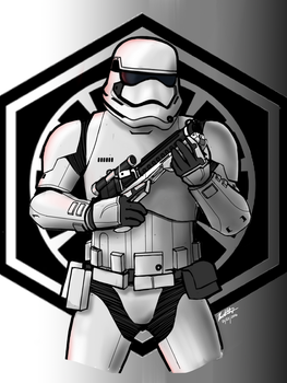 First Order Stormtrooper by Silent-Valiance