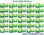 Green Web Buttons by richardkingempire