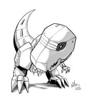 Chibi Grimlock by Inker-guy