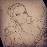Rey and BB-8 by chrissie-zullo