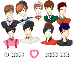 U-kiss-KISS ME by XHolyKnightAgrias