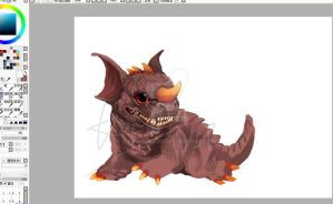 Baragon WIP by KomaOokami