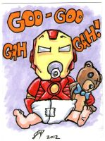 Goo Goo Gah Gah Tony Stark by johnnyism