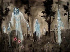 The Haunted Cemetery by CindarellaPop