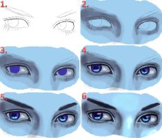 Realistic Eyes Steps by Chrystall-Bawll
